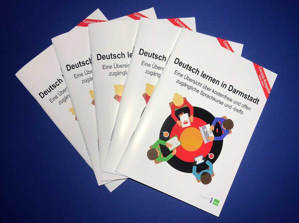 """Broschüre """"Deutsch lernen in Darmstadt"""""""